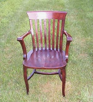 Antique Solid Mahogany Colored Oak Chair RARE!