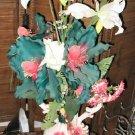 "41"""" Porcelain Flower  Vase Stand Decor Arrangement"