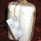 6 Russ Berrie White Lace & Promises Wedding Candle