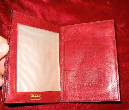 Vintage Handmade Leather Wallet Billfold MANO
