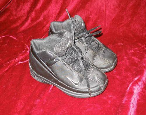 Boys Kids Nike Black Leather Boots Shoes 7 C