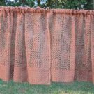 4pc Vintage Linen Fabric Curtains Drapes Lace Chic