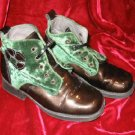 Kids Nordstrom Fulgenzi Leather Suede Dress Shoes Brown Boots Italy 28 10.5 11