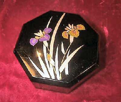 Vintage Yamanaka Japan Jewelry Case Trinket Box Floral