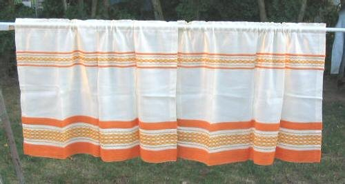 6pc Vintage Shabby Linen Fabric Curtains Drapes Chic