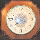 Vintage Seth Thomas Country Chic Wall Clock Shabby Pine USA