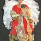 "NIB Berkeley Designs Red Velvet Musical Angel 13"" Doll"