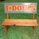 Hand Made Wooden Doll Bench Mini Wooden Furniture