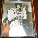 Vintage ELVIS Presley Framed Photo Silver Chrome Frame