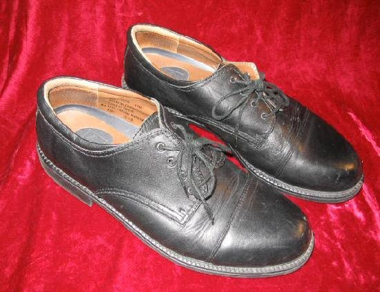 Mens Dockers Leather Black Dress Shoes Loafers 11M