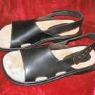Mens Donald Pliner Sandals Black Leather 12M  NIB Italy