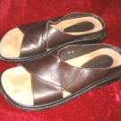 Mens Donald Pliner Sandals Brown Leather 12M Italy
