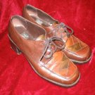 Nine West Brown Leather Dress Shoes Heels Casual 7.5M