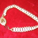 "NIB Vintage 1984 Jostens Sterling Pearl & Gold  Bracelet 6.5"" Bell Atlantic"