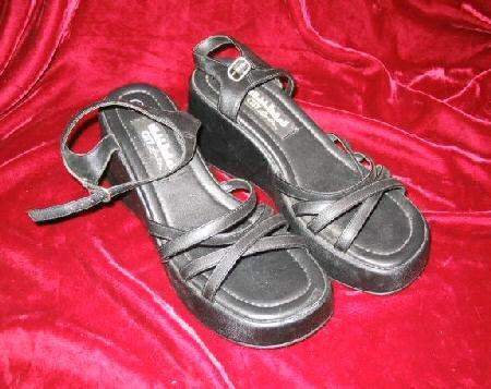 NEW Ladys Citylimits Black Shoes Platform Heel Pumps 8