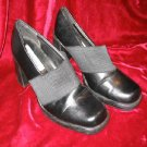 Womens Black Classified Vinyl Shoes Pump 6.5 Like New