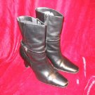 """Nice J.G. Hook Black Leather Boots Shoes Town 7.5"""""""""""