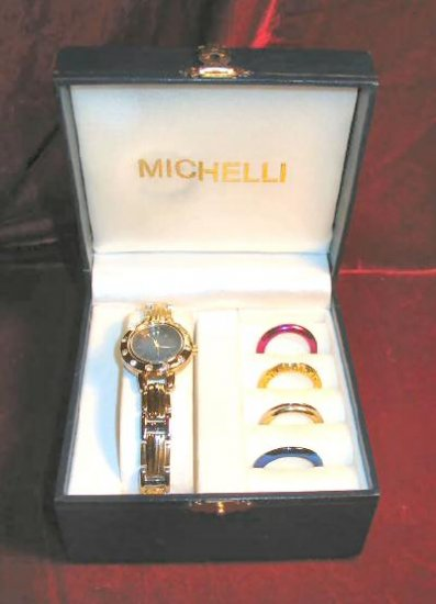 New Michelli Watch Interchangable Face Case