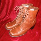 Like New Newport News Brown Leather Boots Shoes 7.5