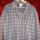 Womens Avenue Fleece Gray Jacket 14/16 L