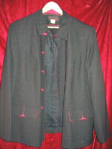 Womens John Meyer Black Suit Jacket Plus Size 24 W Dry Cleaned