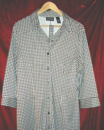 Womens New York & Company Jacket Button Shirt Pajama XL