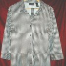 Womens New York & Company Jacket Button Shirt Pajama XL