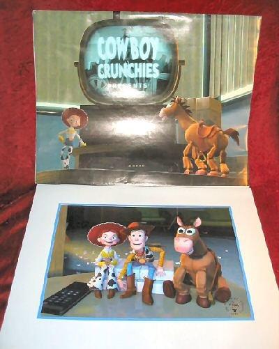 2000 Disney PIXAR Toy Story 2 Commemorative Lithograph Framed