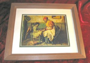 Harry Herman Roseland Playing Checkers Art Print Framed