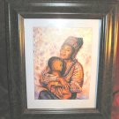 Framed  Art Print Mother Holding Baby African Family Love