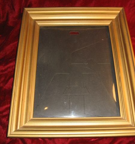 Nice Vintage Gold Wooden Picture Frame 14x16