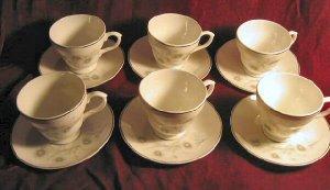 12pc Vintage Mayfair Fine Bone China Saucer Cup England