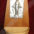 Religious Mary Conceived Italy Holy Water Holder Pewter
