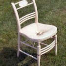 Antique White Straw / rush Chair Circa 1850 Original Condition