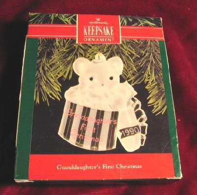 Hallmark Ornament Granddaughter's First Christmas QX310-6