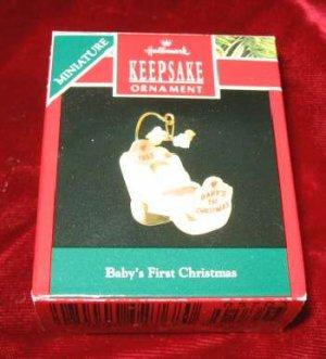 1990 Hallmark Keepsake Ornament Baby's First Christmas QXM570-3