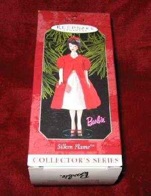 1998 Hallmark Ornament 5 Silken Flame Barbie QXI4043