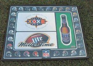 1998 Miller Lite Super Bowl XXXII Mirror Sign Ad  28x22