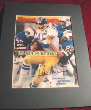 1982 Sports Illustrated Chuck Muncie Signed Chargers