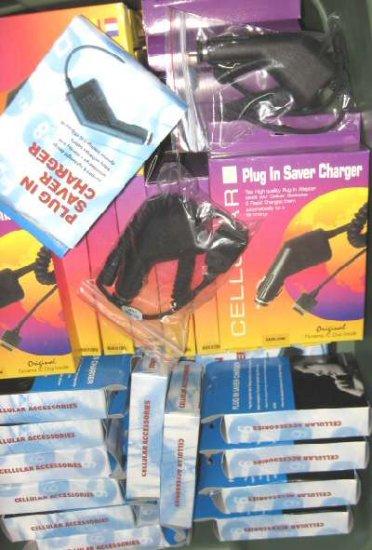 80 Wholesale Lot Cell Phone Car Cargers Nokia Motorola