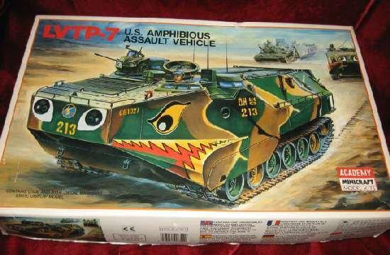 Academy Minicraft 1344 LVTP-7 US Amphibious Assault Vehicle model tank