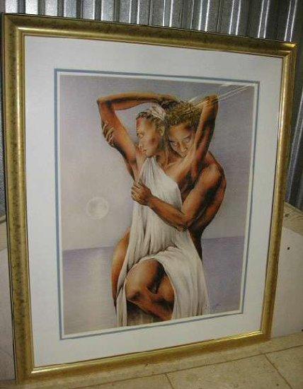 "Jeff Hall Silky Smooth Love Gold Framed Art Print 26""x31"""