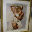 "Jeff Hall Silky Smooth Love Gold Framed Art Print 26""x31"""