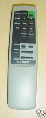 SONY RM-SG5 AUDIO SYSTEM REMOTE CONTROL
