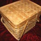 Wicker Woven Gift Storage Basket w/ Lid Handles