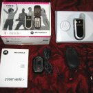 Motorola V180 Cell Phone Manual Charger Leather Case
