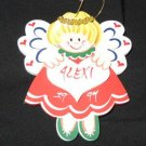 Nice Wooden Angel Christmas Ornament Alexi 90's