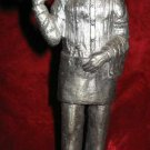 1984 Michael Ricker Pewter Butler Waiter Server Bartender Signed