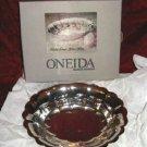 Vintage Oneida Fluted Silver Oval Bon Bon Tray NIB