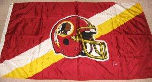 5'x3' NFL Washington Redskins Large Helmet Flag Banner